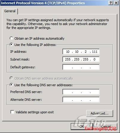 复制界面的TCP/IPv4 属性页