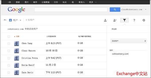 Gmail 管理控制台