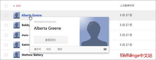 Gmail 用户管理界面