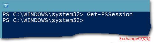 没有任何远程会话的 Windows PowerShell 控制台